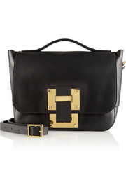 Soft Flap mini leather shoulder bag