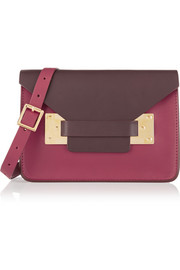Envelope small color-block leather shoulder bag