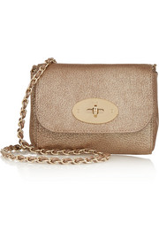 Mulberry Lily mini metallic textured-leather shoulder bag