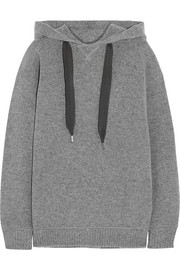 Jackson wool and cotton-blend hooded top