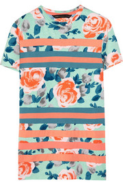 Jerrie floral-print cotton T-shirt