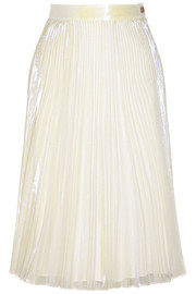 Cluster Cellophane pleated iridescent organza skirt