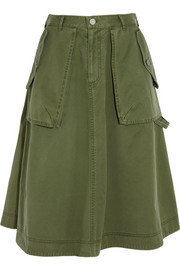 Flared cotton skirt