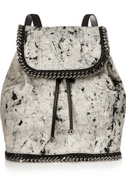 The Falabella printed canvas backpack