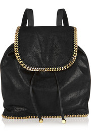 The Falabella faux brushed-leather backpack