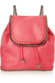 The Falabella mini faux brushed-leather backpack