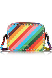 Valentino The Rockstud printed leather shoulder bag