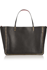 Valentino The Rockstud reversible large textured-leather trapeze bag