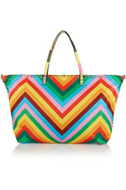 Valentino The Rockstud printed shell tote