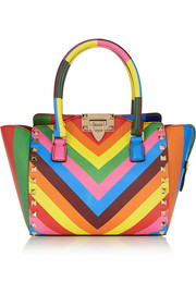 Valentino The Rockstud mini printed leather tote