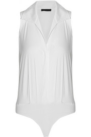 Donna Karan Stretch cotton-blend bodysuit