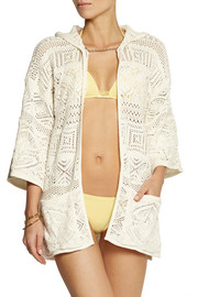 Emilio Pucci Hooded crocheted cotton coverup