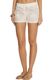 Emilio Pucci Crocheted cotton shorts