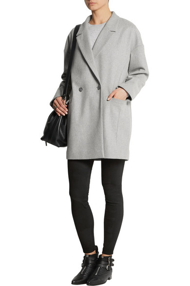 taille 40 e7480 3f2fa Grayson oversized wool-blend coat