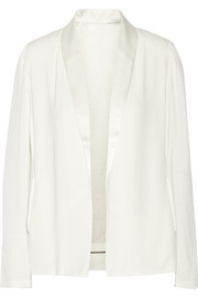 Holiester draped crepe blazer