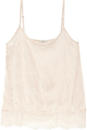 Silk-satin and lace camisole
