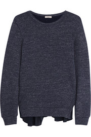 CLU Silk-trimmed cotton-blend sweatshirt