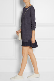 CLU Ruffled cotton-blend French terry dress