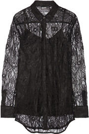 DKNY Floral-lace shirt