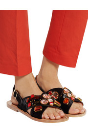 Marni Crystal-embellished calf hair sandals