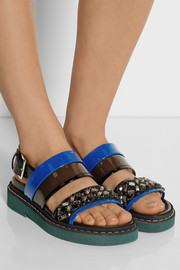 Marni Crystal-embellished PVC sandals