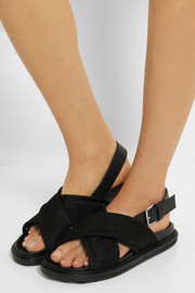 Marni Satin-twill slingback sandals
