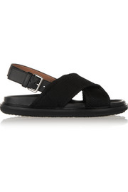 Marni Satin-twill sandals