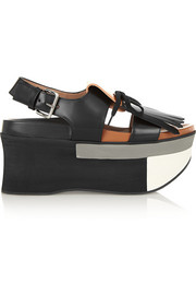 Marni Two-tone leather platform sandals