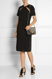 Tory Burch Kira leopard-print calf hair and leather shoulder bag