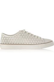 Daisy Cutout leather sneakers