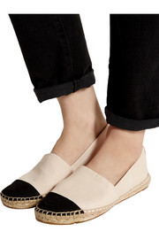 Tory Burch Two-tone canvas espadrilles