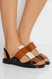 Maiyet Leather and canvas slingback sandals