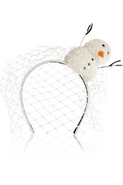 Piers Atkinson Frosty Swarovksi crystal-embellished suede headband
