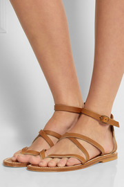 K Jacques St Tropez Epicure leather sandals