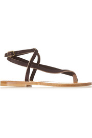 K Jacques St Tropez Delta leather sandals