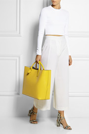 Panama large textured-leather tote