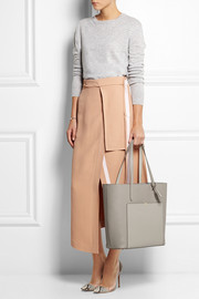 Smythson North/ South textured-leather tote