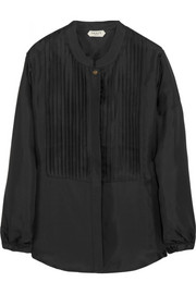 Grace MMXIII Aspen pleated silk-twill blouse