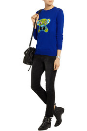 Markus Lupfer Speak No Evil Monkey sequined cotton sweater