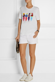 Markus Lupfer Jungle Birds embellished cotton T-shirt