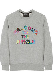 Welcome to the Jungle cotton-terry sweatshirt
