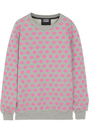 Markus Lupfer Smacker printed cotton-terry sweatshirt