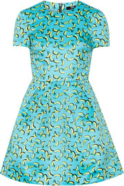 Bananas Frankie printed satin mini dress
