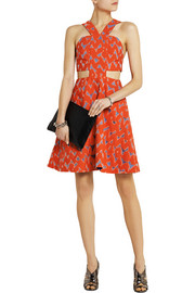 Markus Lupfer Lyla cutout cotton-blend jacquard mini dress