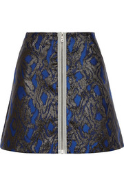 Dora metallic jacquard mini skirt