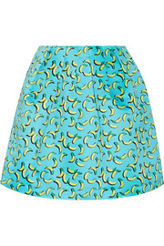 Bananas Kat printed satin mini skirt