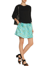 Markus Lupfer Bananas Kat printed satin mini skirt