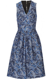 Katherina floral-jacquard dress