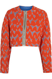 Lexi cropped cotton-blend jacquard jacket