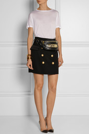 Moschino Embellished leather belt bag